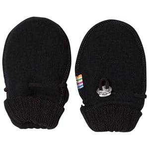 Image of Joha Baby Mittens Black Wool Wool gloves and mittens