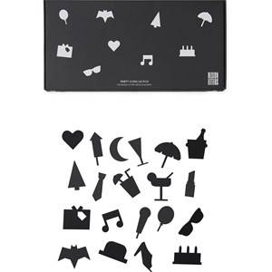 Design Letters Party Icons for Message Board Black (20 Pack) Wall stickers and art