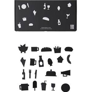 Design Letters Food Icons for Message Board Black (21 Pack) Wall stickers and art