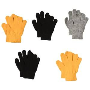Image of Kuling Trend Magic Gloves 5-pack Yellow Grey Black Fleece gloves and mittens