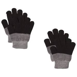 Image of Lindberg 2-Pack Brattfors Gloves Black/Anthracite Wool gloves and mittens