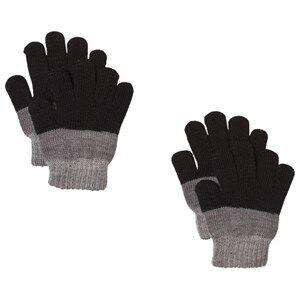 Image of Lindberg 2-Pack Brattfors Gloves Black/Anthracite Wool gloves and mittens