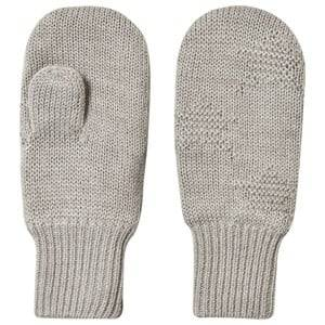 Image of Molo Snowfall Mittens Grey Melange Wool gloves and mittens