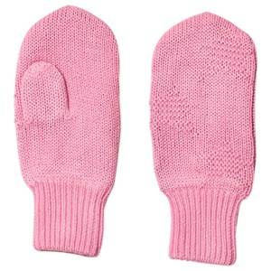 Image of Molo Snowfall Mittens Total Pink Wool gloves and mittens