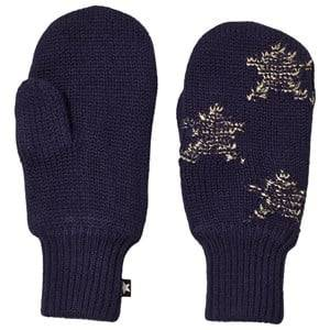 Image of Molo Snowfall Mittens Evening Blue Wool gloves and mittens