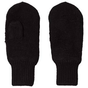 Image of Molo Snowfall Mittens Very Black Wool gloves and mittens
