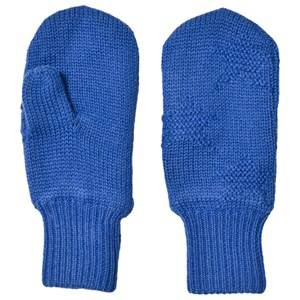 Image of Molo Snowfall Mittens Real Blue Wool gloves and mittens