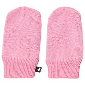 Image of Molo Snowflake Mittens Total Pink Wool gloves and mittens