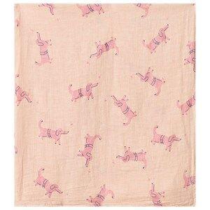 Bobo Choses Dogs Muslin Cloth Rose Dust