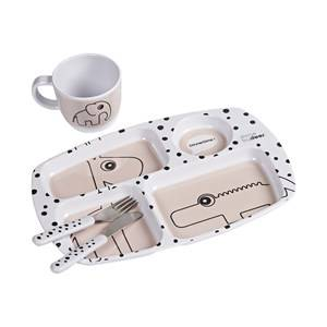 Done by Deer Happy Dots Toddler Dinner Set Powder Table sets