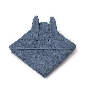 Liewood Albert Hooded Towel Rabbit/Blue Wave