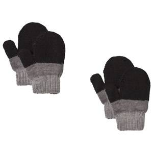 Image of Lindberg 2-Pack Brattfors Mittens Black/Anthracite Wool gloves and mittens