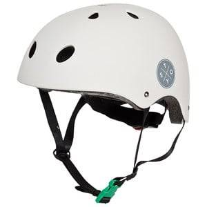 STOY Sport Helmet Light Grey with Green Buckle Size S 48-52 cm