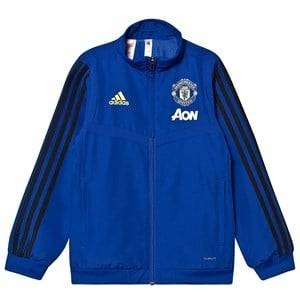 Image of United Manchester United Manchester United 19 Pre Match Jacket Blue 9-10 years (140 cm)