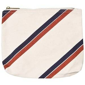 The Animals Observatory Pouch Raw White Stripes Purses and wallets