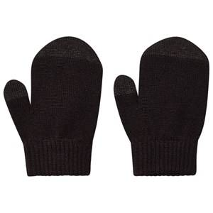 Image of Reima Renn Knitted Mittens Black Wool gloves and mittens