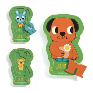 Djeco Charly & Co Wooden Puzzle