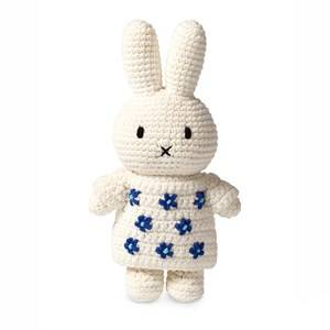 Image of Just Dutch Miffy Crochet Doll with Floral White Dress