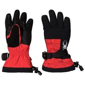 Image of Spyder Overweb Ski Glove Red/Black Ski gloves and mittens
