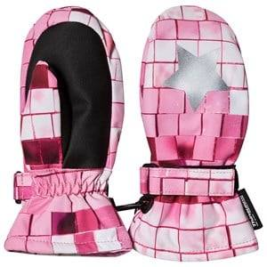 Image of Molo Mitzy Mittens Pink Disco Ski gloves and mittens