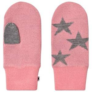 Image of Molo Snowfall Mittens Bubble Pink Wool gloves and mittens