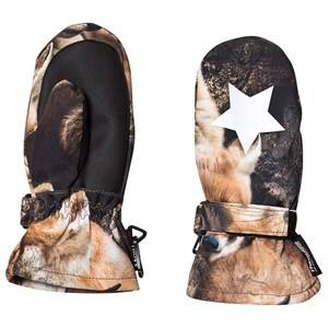Image of Molo Mitzy Mittens Fox Camo Ski gloves and mittens
