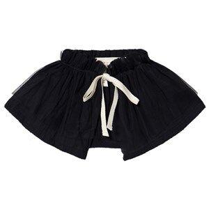 Creative Little Creative Factory Muslin Ruffle Neck Black Velvet collars