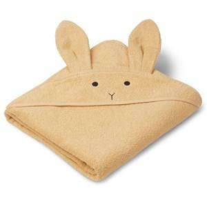 Liewood Augusta Hooded Towel Rabbit/Smoothie Yellow