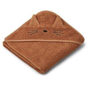 Liewood Albert Hooded Towel Cat/Terracotta