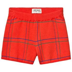 Bobo Choses Lines Knitted Shorts Red Clay 4-5 Years