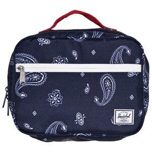 Herschel Pop Quiz Lunch Box Bandana Paisley Peacoat/Barbados Cherry Lunch bags