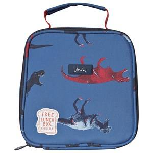 Tom Joule Blue Munch Dino Print Lunch Bag Lunch bags