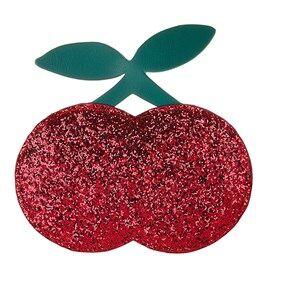 Mimi & Lula Glitter Cherry Cross-Body Bag Red Handbags