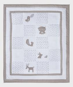 Vinter & Bloom Unisex Bedding Grey Forest Friends Playmat/Duvet Grey Leaf