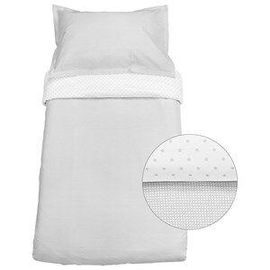 Vinter & Bloom Unisex Bedding Grey Gingham Crib Bed Set Slate Grey