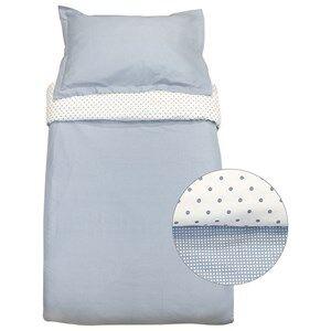 Vinter & Bloom Unisex Bedding Blue Gingham Bassinet Bed Set Placid Blue