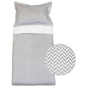 Vinter & Bloom Unisex Bedding Grey Herringbone Baby Cot Bedding Charcoal Grey
