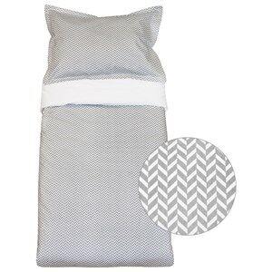 Vinter & Bloom Unisex Bedding Grey Herringbone Bassinet Bed Set Charcoal Grey