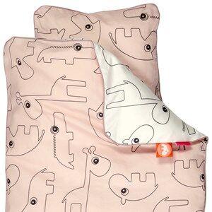 Done by Deer Unisex Bedding Pink Contour Junior Bedlinen Powder
