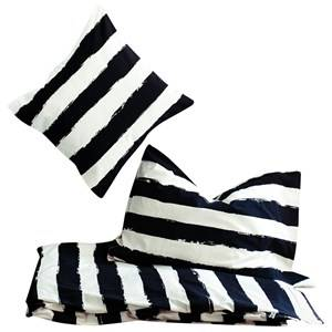 Noe & Zoe Berlin Unisex Bedding White Junior Bedding Black Stripes XL