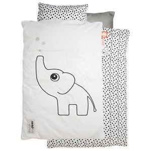 Done by Deer Unisex Baby Gear Bedding White Elphee Baby Bedlinen White