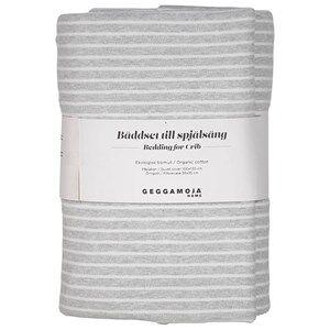 Geggamoja Unisex Bedding Grey Classic Crib Bedding Light Grey Melange/White