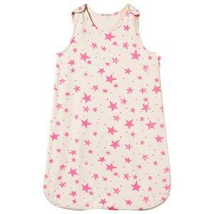Noe & Zoe Berlin Girls Bedding White Sleeping Bag Neon Pink Stars