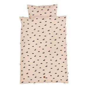 ferm LIVING Unisex Bedding Pink Rabbit Bedding - Junior
