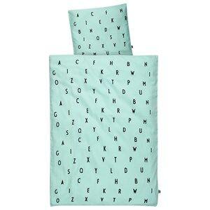 Design Letters Unisex Bedding Green Design Letters Baby Bedlinen Mint