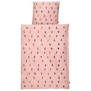 Design Letters Unisex Bedding Pink Design Letters Baby Bedlinen Rosa