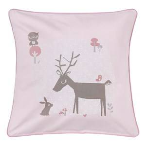 Vinter & Bloom Unisex Bedding Pink Forest Friends Cushion Cover Blossom