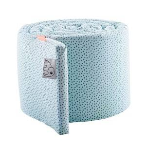 Done by Deer Unisex Baby Gear Bedding Blue Bed Bumper Happy Dots Blue