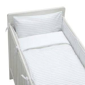rattstart Unisex Bedding Grey Bed Set Crib Bed Pinstripe