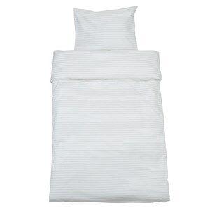 rattstart Unisex Bedding Grey Bed Set Junior Pinstripe